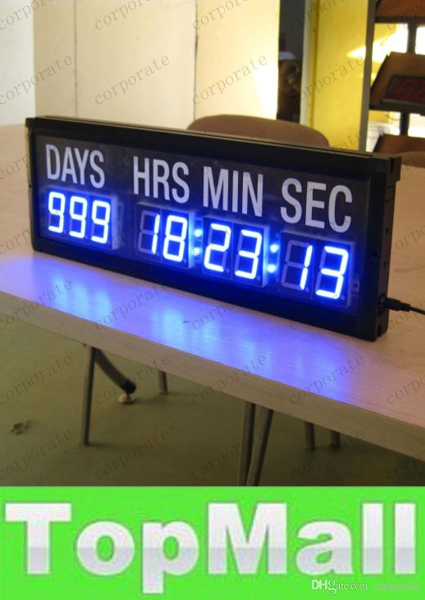 Lai Blue Led Countdown Clock In Days Hours Minutes Seconds