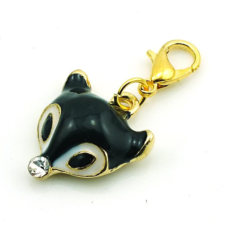 Mode Drijvende Charms Vergulde 3 Kleur Emaille Fox Head Lobster Clasp Legering Charms DIY Hangers Sieraden Accessoires