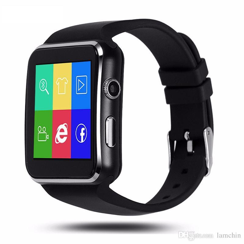 1d62b79d8e50 X6 Smart Watch Curved Screen Smartwatches Reloj pulsera Soporte Cámara SIM  Tarjeta TF ranura para tarjeta Smartwatch para Android Smartphones Caja al  por ...