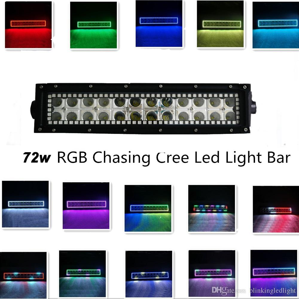 135 inch 72w cree led light bar rgb halo ring chasing multi color 135 inch 72w cree led light bar rgb halo ring chasing multi color with remote controller portable work light led portable work lighting from mozeypictures Image collections