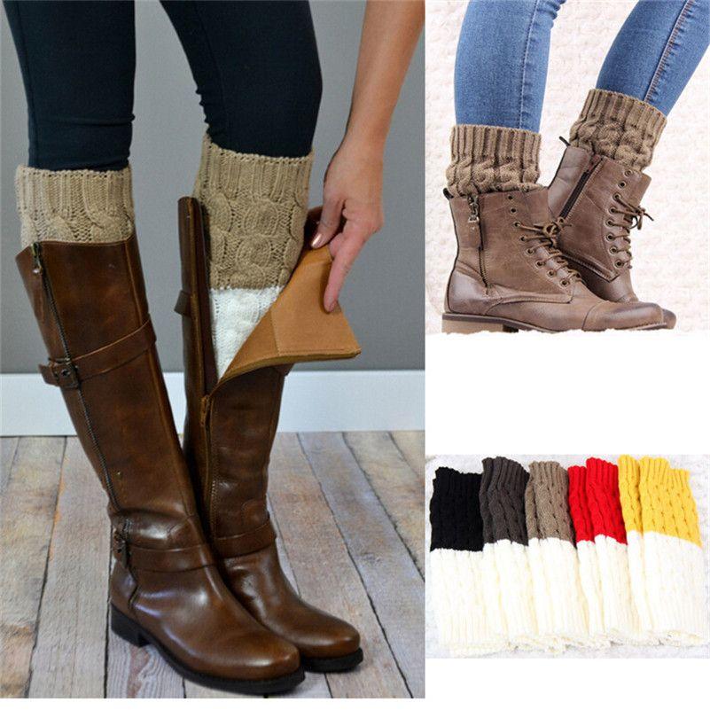 Wholesale One In Two Colors Leg Warmer Womens Crochet Winter Socks Women  Boots Cover Ankle Socks Warm Wool Knit Toppers Cuffs  F.8 UK 2019 From  Aqueen fbc59aa4b6