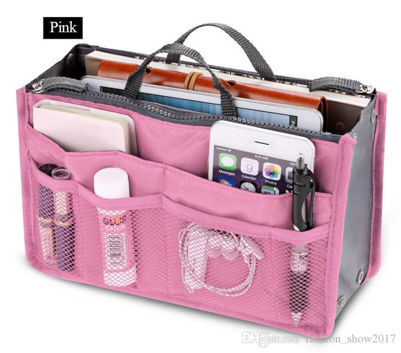 Clear Compact Portable Women Makeup Organizer Bag Girls Cosmetic Bag Toiletry Travel Kits Storage Hand bag track