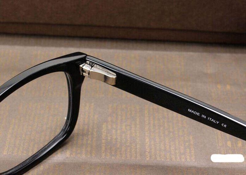 Occhiali da vista da uomo Frame Tom 5176 Brand Designer Plank Cornice grande montature da vista donna Retro Miopia Montature da vista con custodia