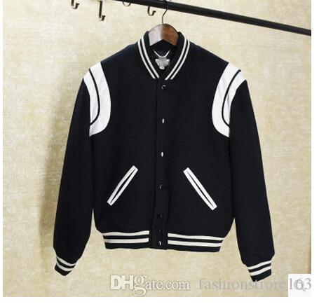 Talla grande Moda marca streetwear Pu patchwork chaqueta bomber hombres Varsity Jacket coat elegante chaqueta de béisbol abrigo de mujer