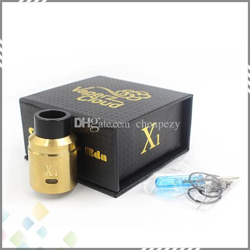 Vaporizer X1 Vaperz Cloud RDA Atomizer 24mm diameter Adjustable Airflow High quality fit 510 Electronic Cigarette DHL Free