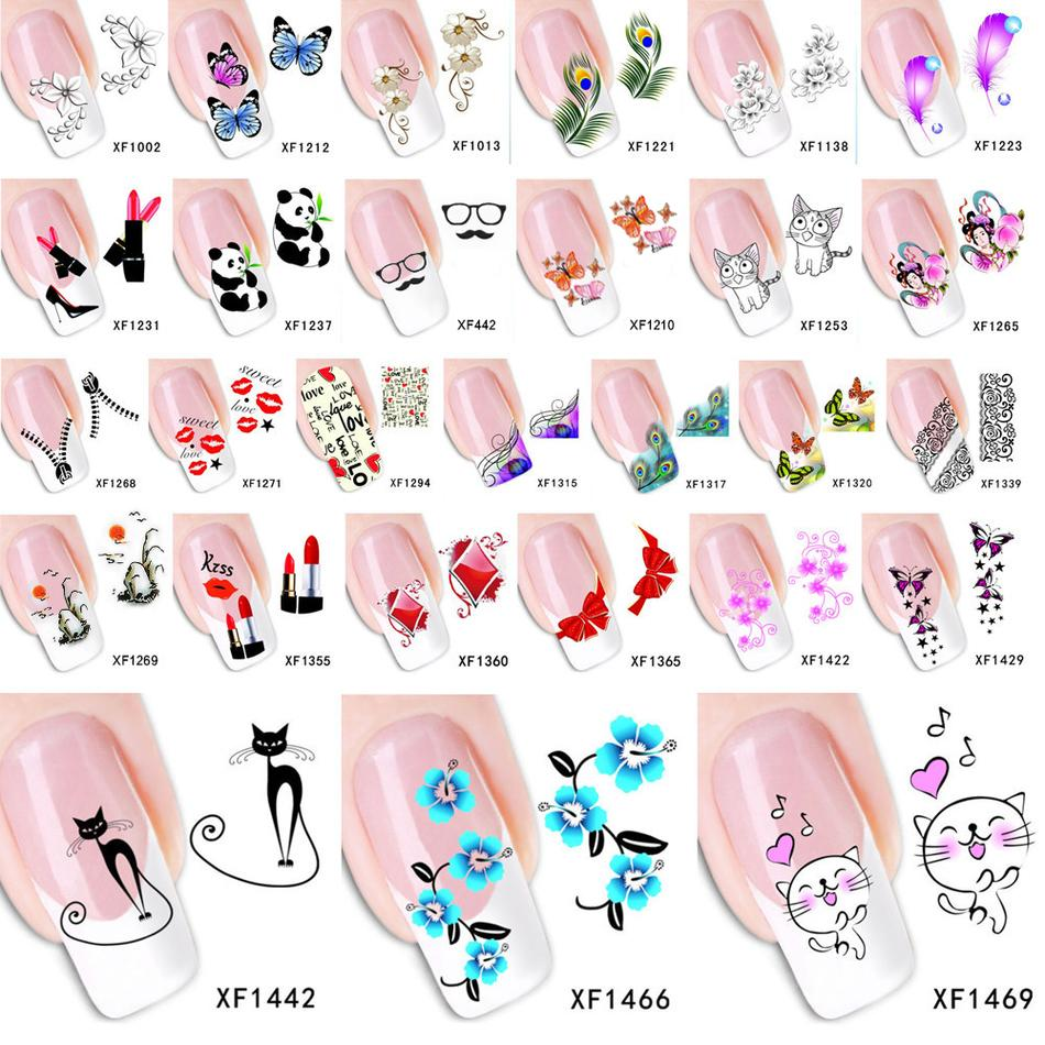 Stickers decals nail stickers nail art decals fashion - Fashion Water Transfer Nail Art Decals Stickers Cartoon Cat Flower Lips Nail Sticker Decorations Diy Tips For Nails Nail Art Supplies Nail Polish Designs