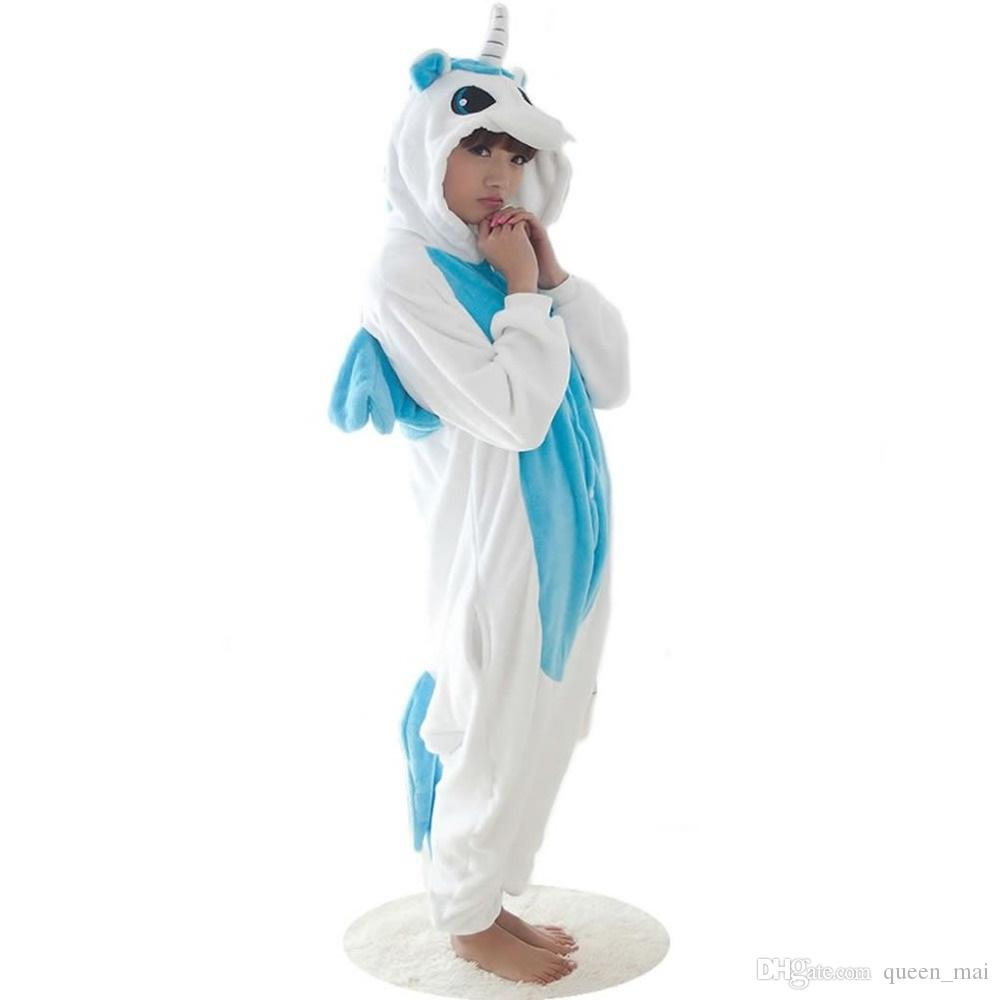 d1fd3f9ae Winter Kawaii Anime Hoodie Pyjamas Cosplay Horse Adult Onesie Christmas BLUE  Unicorn Pajama Costume Blue Unicorn Onesie Jumpsuit Sleepwear Couple  Costumes ...