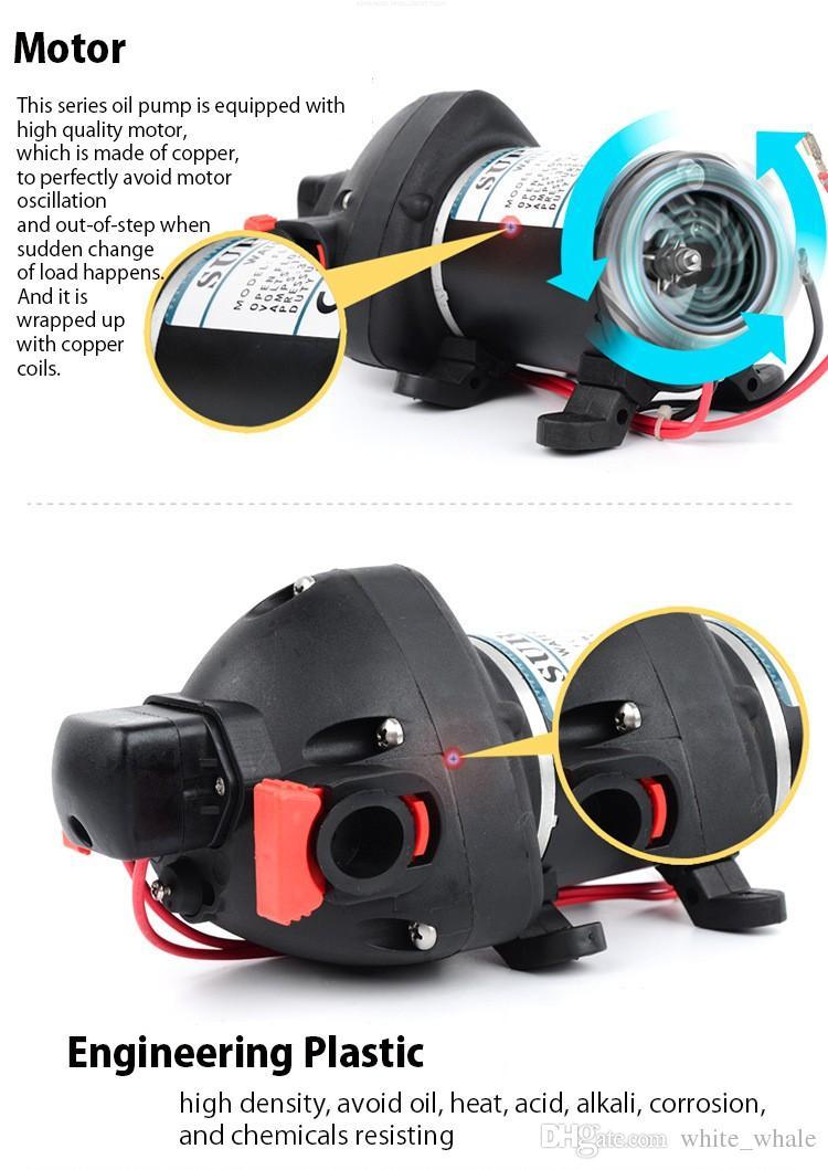 DC المحمولة الكهربائية يخت مقطورة استخدام غسيل السيارات الذاتي فتيلة مضخة الحجاب الحاجز المصنع مباشرة