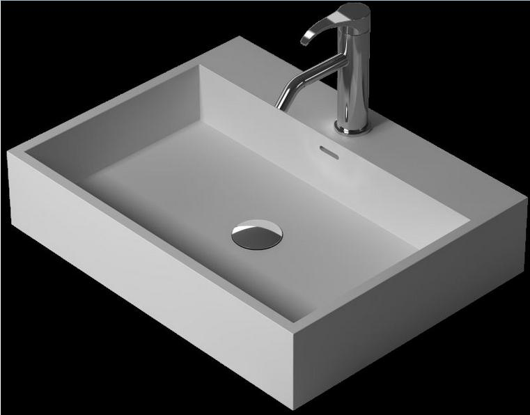 CUPC Certificate Cloakroom Rectangular Solid Surface Stone Wash Basin Bathroom Counter Top Vessel Sink Vanity Basin RS38343