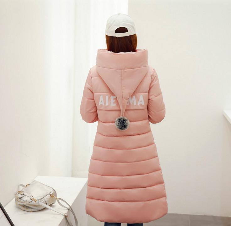 2016 autunno e inverno nuove donne di cotone lungo paragrafo sopra ginocchio giù giacca cappotto ampio spessore metri
