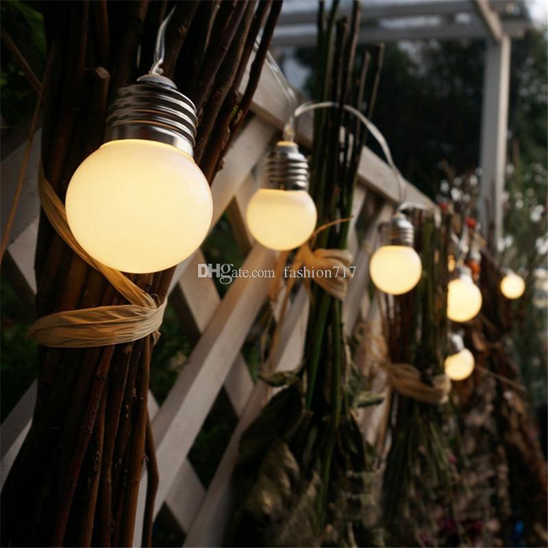 10 LED Retro Bulb Balls String Lights Warm white Christmas Wedding Party Home Decor Fairy Light for hotels