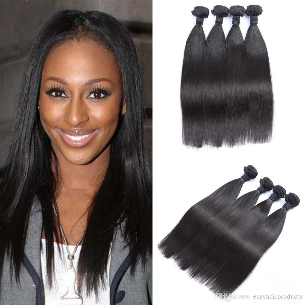 Unprocessed Human Hair Extensions Straight Best Quality Virgin