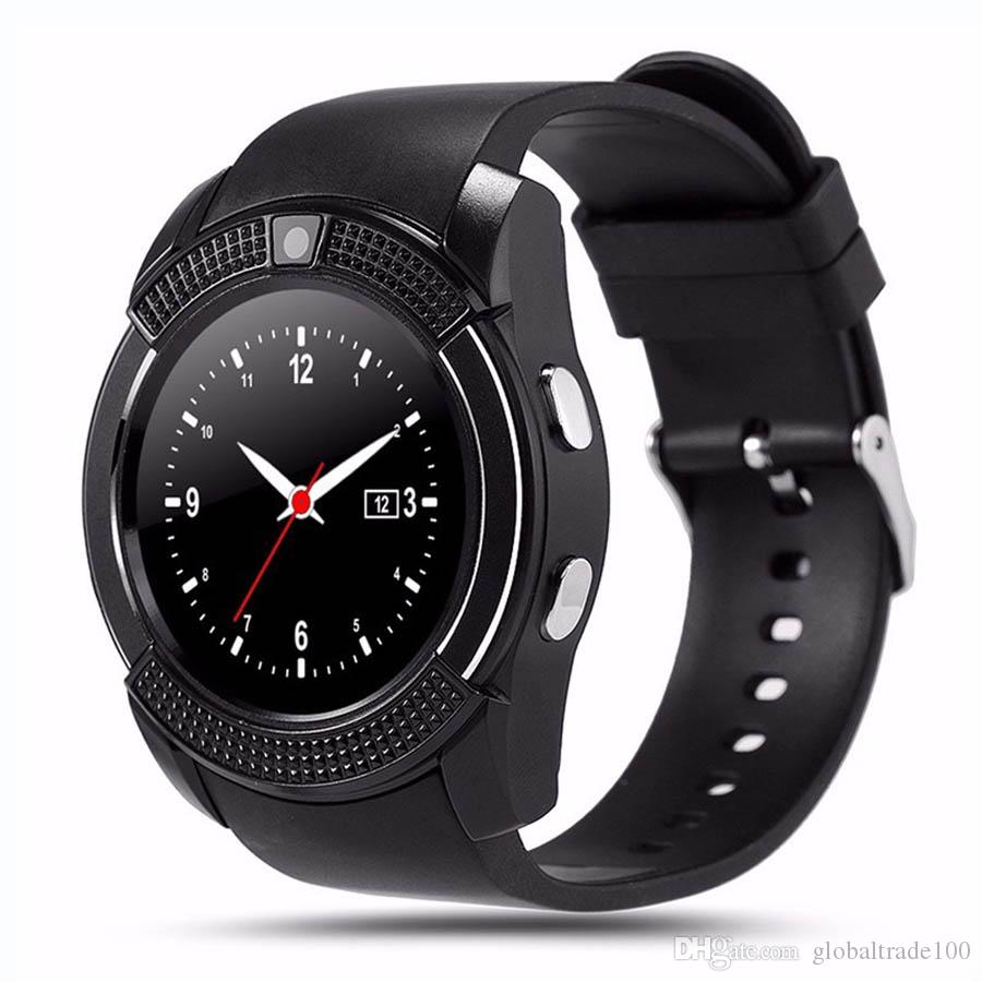 V8 Smartwatch Bluetooth Smart Watch With Camera SIM TF Card for iPhone Android Cell Phone