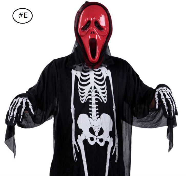 Skull skeleton ghost clothes Halloween cloak cosplay Costume Theater Prop Death Hoody Cloak Devil Long Tippet Cape