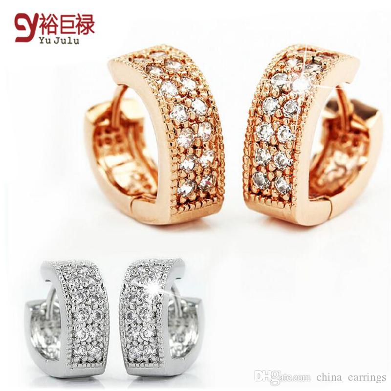 e1980371d3b88a 2019 Silver Rose Gold Korean Fashion Imitation Diamond V Heart Shaped  Earring Silver Plated Earrings Clip Hypoallergenic Women Earrings From  China_earrings, ...