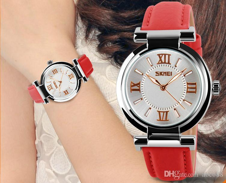 2018 watches women high quality waterproof leather strap
