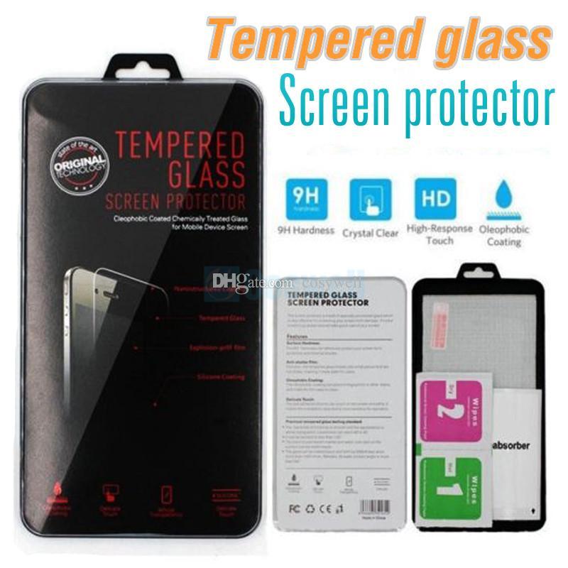 Top ausgeglichenes Glas-Schirm-Schutz für iphone 7 7plus 6s 6s plus 5 5S 3D Film Samsung S6 S7 J7 2016 Samsung S5 Note5 Stylo 2 retailbox