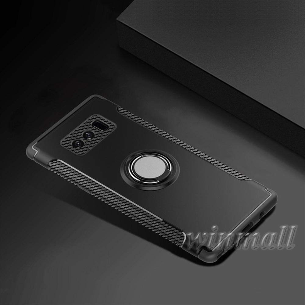 For SAMSUNG Note 8 S8 Plus Hybrid 2-in-1 Armor Case with 360° Ring Stand Holder Magnetic Back Cover For iPhone X J2 prime J5 J7 Prime J3