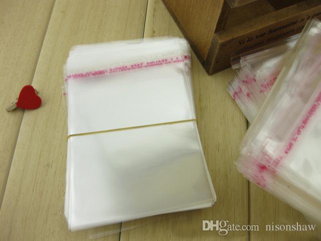13 * 19 cm, / transparent sacs en plastique OPP pochette accessoire auto-adhésif ruban adhésif sans colle paquet sacs-bijoux sac