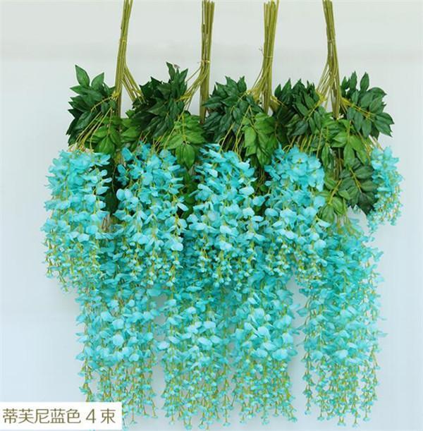 인공 등나무 꽃 등나무 110cm / 70cm 실크 꽃 장식 결혼식 덩굴 꽃 장식 포도 나무 꽃