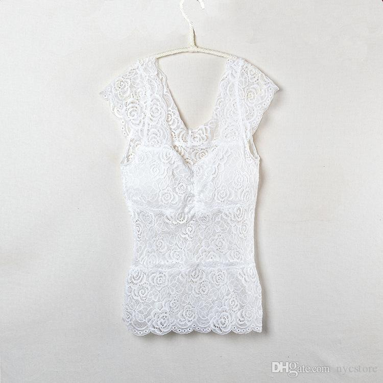 Seksi Dantel düşük kesim yelek Gece Kulübü backless Dışında gömlek kadın tank top siyah beyaz sıcak yaz