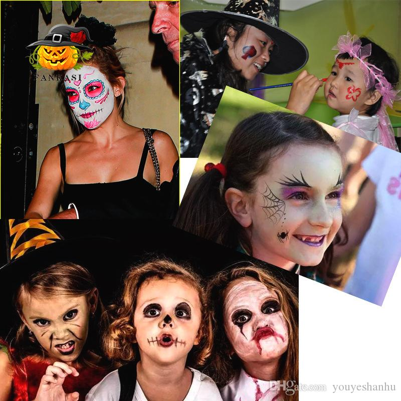 Non-toxic Halloween Makeup Water Paint Oil Halloween Party Fancy Dress Beauty Make Up Devil Fans Body Face Painting
