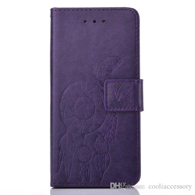 Custodia a portafoglio in pelle Samsung Galaxy S6 EDGE S5 Note 5 J710 J510 Custodia a conchiglia Grand Prime Core G360 TPU Custodia a farfalla Dream catcher