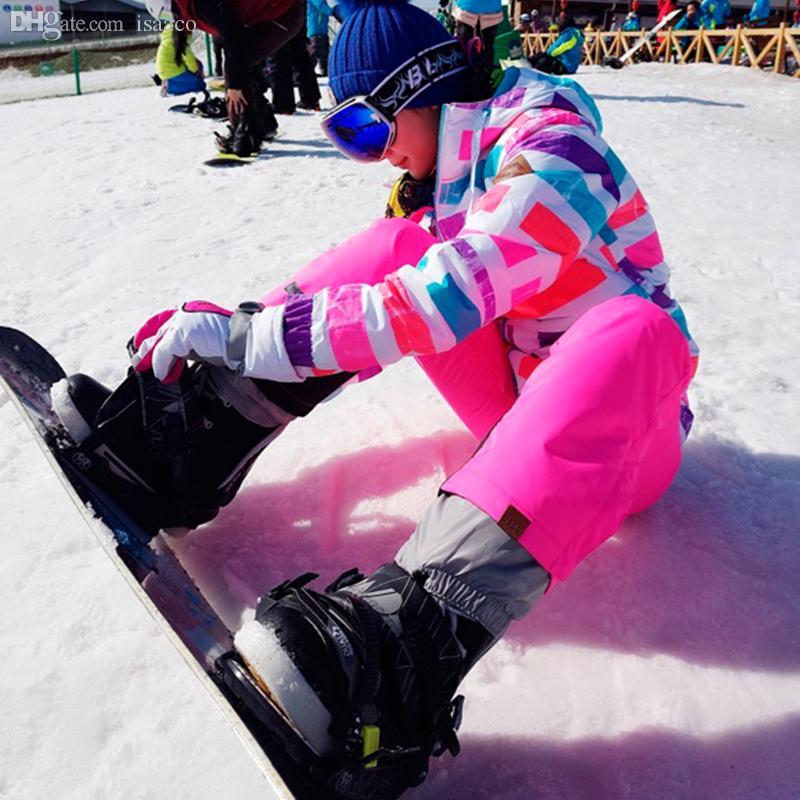 b1d83104a4 2019 Wholesale Gsou Snow Ski Suit Women Snowboard Jacket Pants Women Waterproof  Windproof Women S Ski Suits Snow Clothes Ski Clothing Women From Isaaco