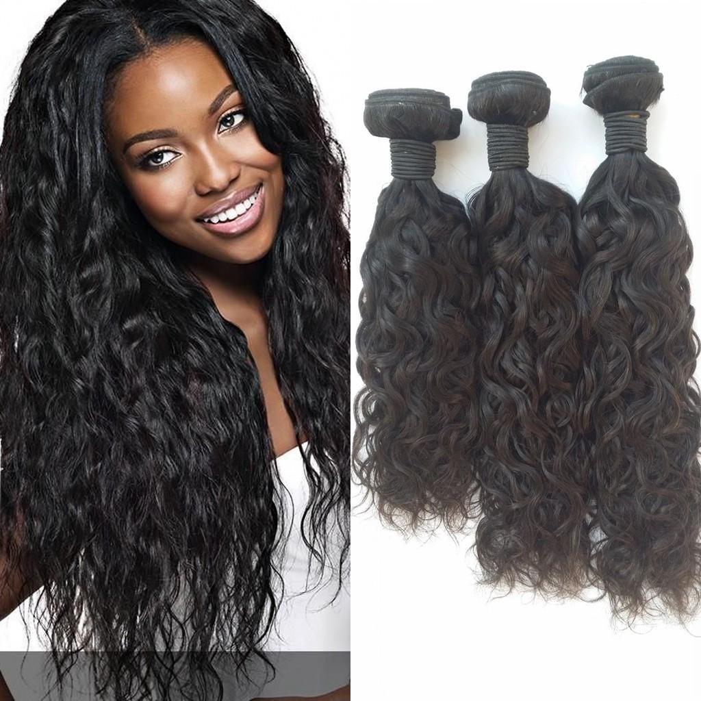 Peruvian Water Wave G Easy Human Hair Extensions Natural Black