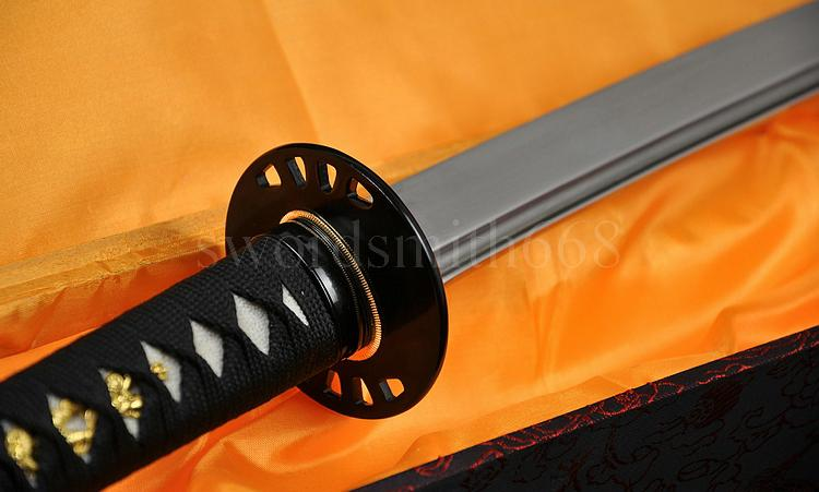 "41""Handmade Japanese Samurai KATANA KILL BILL SWORD Folded Steel Full Tang Blade"
