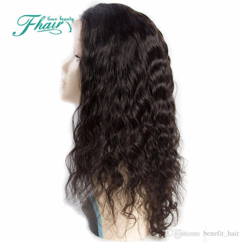 "Full Lace Human Hair Wigs Water Wave Peruvian Lace Front Wigs With Baby Virgin Hair Wig For Black Women 8""-32""Inch Length"