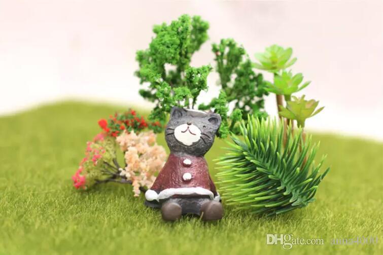 erba artificiale prato 15 * 15 cm fata giardino in miniatura gnome moss terrario decor mestieri della resina bonsai home decor