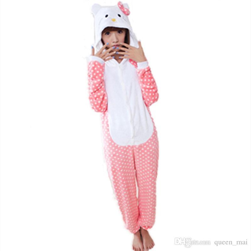 kawaii dot kt onesie unisex adult cartoon cosplay cat costume animal onesies sleepwear suit pajamas sets hello kitty cute onesies jumpsuit hello kitty