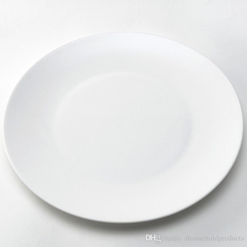 2018 10 Inch Factory Direct Sale Low Price White Dinner Plates Kitchenware Simple Style Plates Porcelain Round Dinnerware Salad Dessert Plates From ... : white dinner plate set - pezcame.com