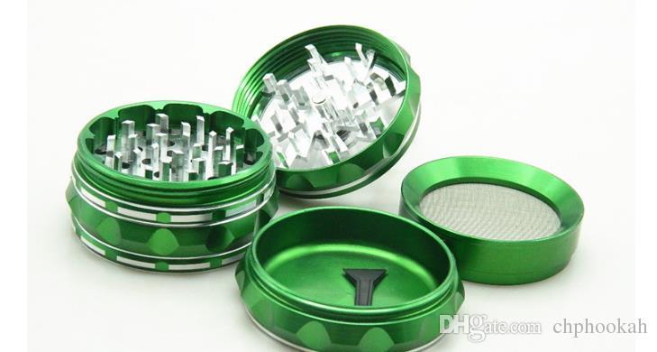 Liga de zinco de quatro mãos moedor de tabaco de diâmetro 63mm moedor de metal quebrado cigarro fumar dispositivo