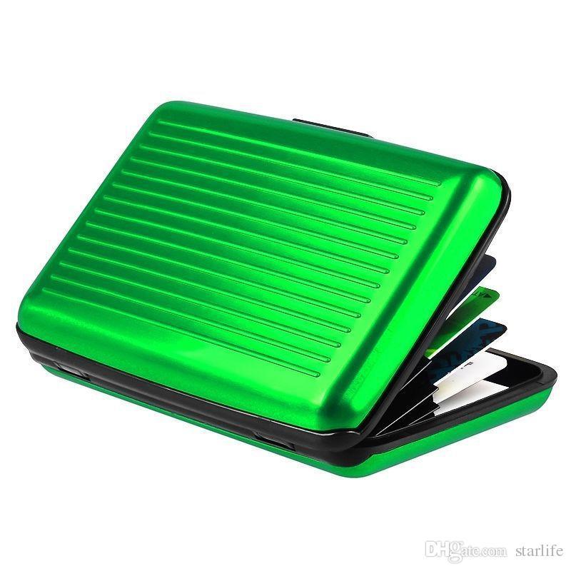 Titulaire de la carte de crédit en alliage d'aluminium Business ID portefeuille imperméable anti-magnétique RFID carte sacs bourse boîte de poche
