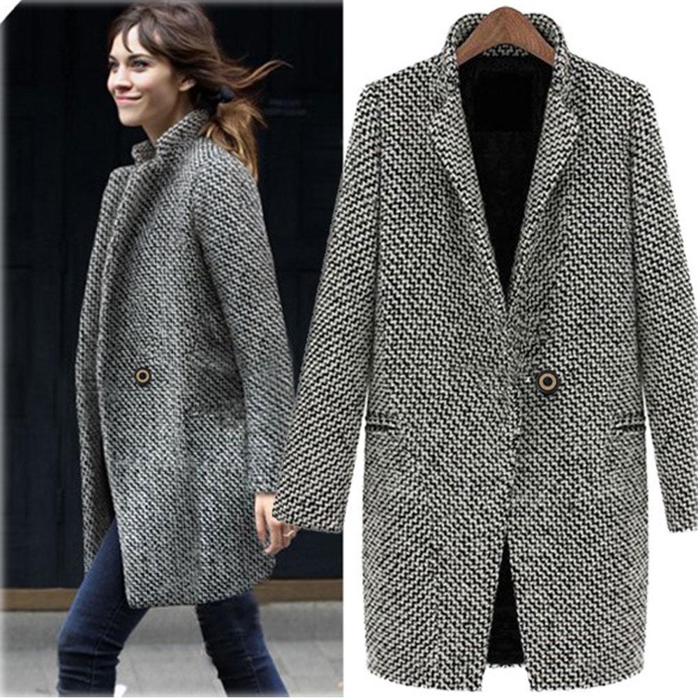 2018 New Women'S Wool Blends Coat,2017 Female Autumn Elegant ...