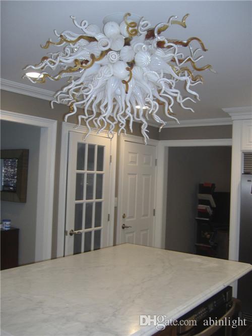 Modern Handmade Murano Glass Chandelier LED Light Source Pendant Lamps Smart Crystal Art Deco Chandelier for LR1113