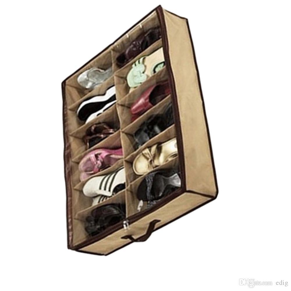 Compre Alipower Nueva Multifunci N 12 Rejilla Plegable  ~ Cajas Transparentes Para Zapatos