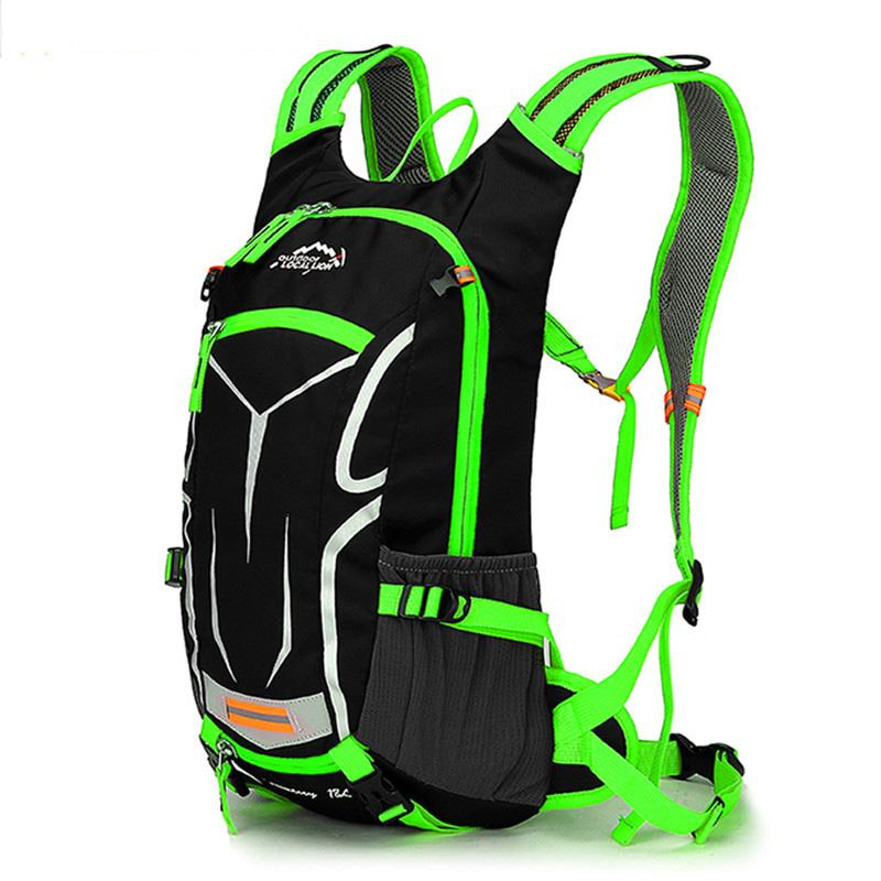 c135302d01 Outdoor Bicycle Backpack Camping Rucksacks Hiking Bag Sport Knapsack Travel  Shoulder Bags Mountainning Day Pack Waterproof Fluorescent Green Climbing  ...