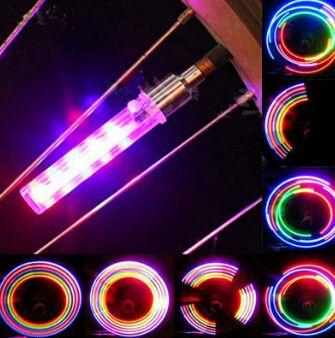 2x 5 LED Bike Tyre Tire Wheel Valve Lamp 2016 bicycle Flash led lights