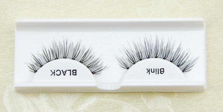 False Eyelashes Handmade Natural Long Thick Eyelashes Fake Eye Lash extensions Blink Black Terrier Strip Eye Makeup Fashion Lashes 105#ARDEL