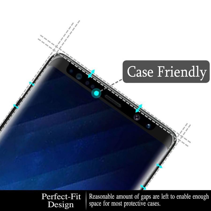 ملء الشاشة لاصق الزجاج المقسى حالة ودية لمجرة غالاكسي ملاحظة 9 S9 8 S8 زائد S7 حافة حامي الشاشة 3D الغراء الكامل