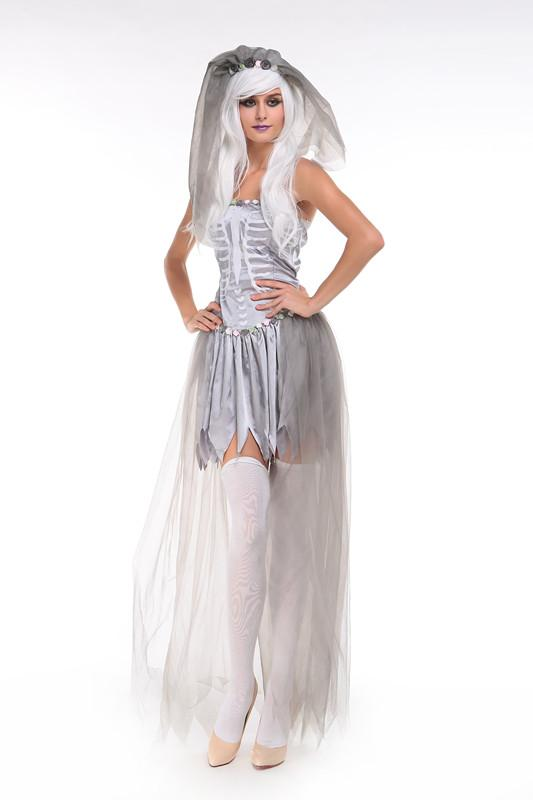 Halloween New Mummy The Zombie Ghost Bride Goddess Of Hell Skull Witch Suit Masquerade  Costumes Adult Halloween Costumes Plus Size Halloween Costumes From ... 5193777b593d
