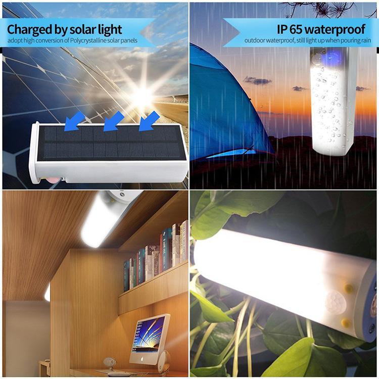 LED portátil al aire libre camping luz magnética del rechargebale Base de emergencia accionado solar IP65 Ultra brillante 30 LED linterna para ir de excursión, de emergencia