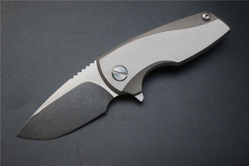 Frete grátis, Malyshev Gnome dobrável faca de bolso faca ao ar livre lâmina de aço inoxidável D2 Ti lidar Survival transporte livre instrumento de caça