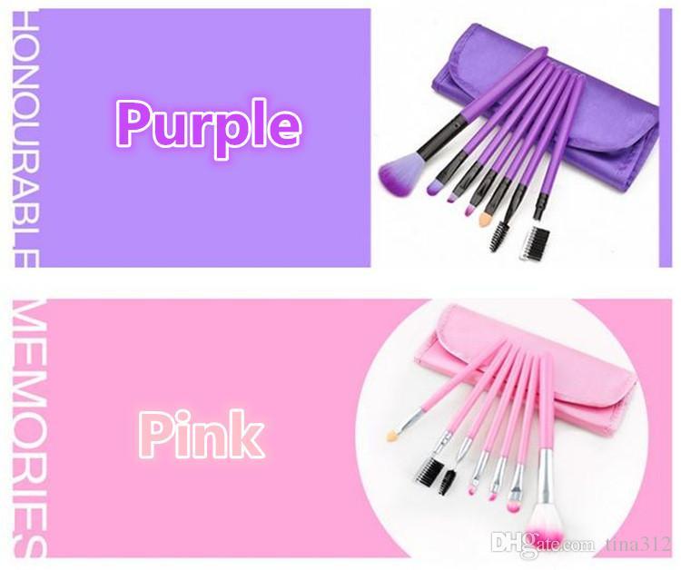 New Makeup Brushes Make Up Brush Set Kits Eyelash Brush Blush Brush Eye-shadow Brush Sponge Sumudger Make Up Tools PU Bag 2913