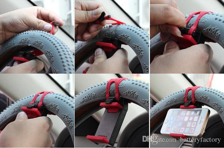 Evrensel Araba için Streing Direksiyon Cradle Tutucu AKıLLı Klip Araba Bisiklet Montaj Mobil iphone samsung Cep Telefonu GPS + Perakende kutusu US03