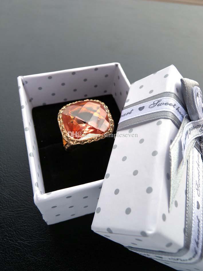 [Simple Seven] Retail фестиваль Gray Dot Box White Paper для ювелирных изделий, браслет Упаковка с луком, Классический Брошь / ожерелье Пакет