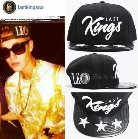 22f418eefd4 Justin Bieber Tyga Last Kings Pharaohs Same Paragraph Pentagram Baseball Cap  Flat Brimmed Hats Hip Hop Cap Ny Caps Ball Cap From Pkjianyi